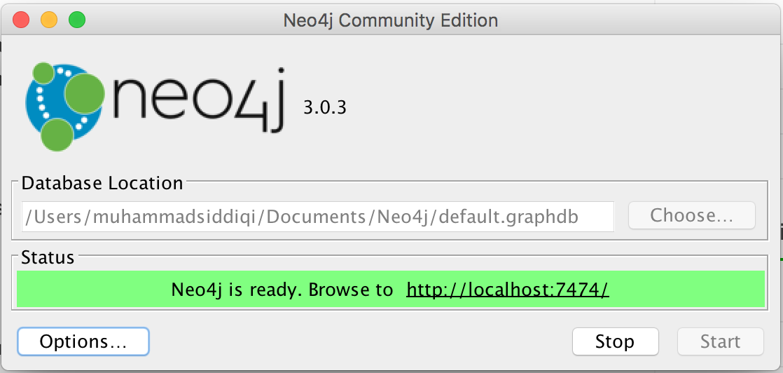 neo4j server launch