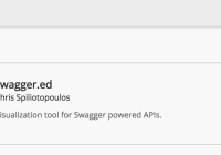 Swagger.ed for graphical visualization of APIs